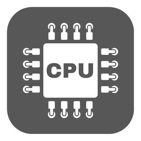 microprocessor: The cpu icon. Microprocessor and processor symbol. Flat Vector illustration. Button Illustration