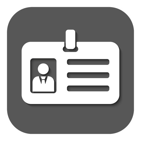 accreditation: The accreditation icon. Admission and badge, identification, pass symbol. Flat Vector illustration. Button Illustration