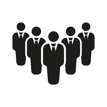 lider: El icono del trabajo en equipo. Líder y símbolo jefe. Ilustración vectorial Flat. Botón Set