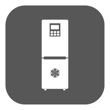 icebox: The icebox icon. Fridge and refrigerator symbol. Flat Vector illustration. Button