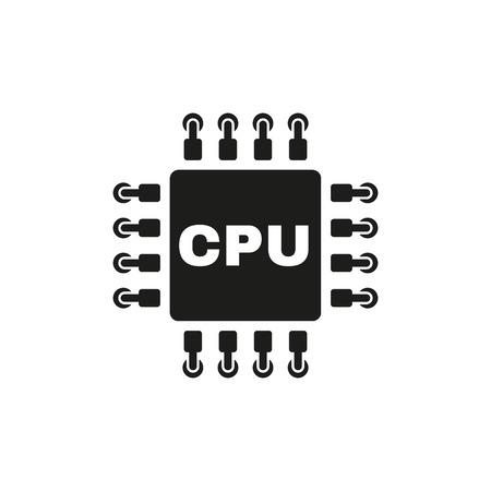 microprocessor: The cpu icon. Microprocessor and processor symbol. Flat Vector illustration Illustration