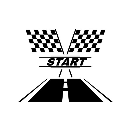 The start icon. Start symbol. Flat Vector illustration Çizim