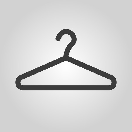 The hanger icon. Coat rack symbol. Flat Vector illustration Vectores