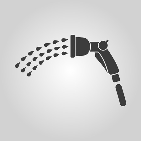 ecologically: The spray gun icon. Irrigation and watering symbol. Flat Vector illustration