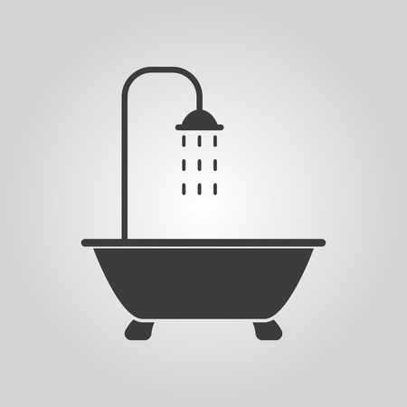 showering: The shower icon. Bathroom symbol. Flat Vector illustration Illustration
