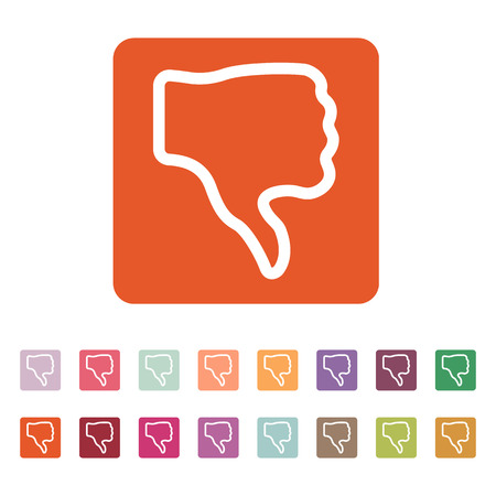thumb down: The thumb down icon. Rejected and no, negative symbol. Flat Vector illustration. Button Set Illustration