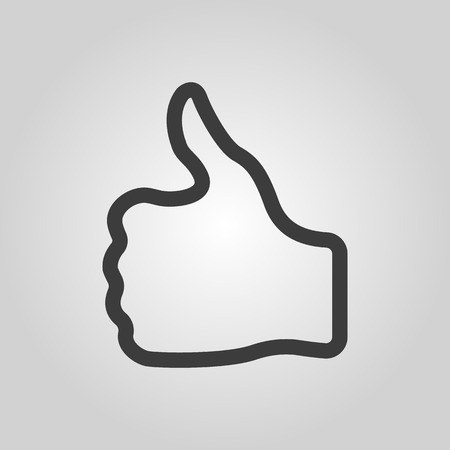 thumb up icon: The thumb up icon. Like and yes, approve symbol. Flat Vector illustration