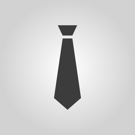 dress code: The tie icon. Necktie and fashion, dress code symbol. Flat Vector illustration