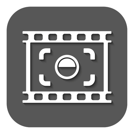 focusing: The viewfinder icon. Focusing and photography, photo symbol. Flat Vector illustration. Button Illustration