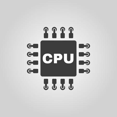 The cpu icon. Microprocessor and processor symbol. Flat Vector illustration Illustration