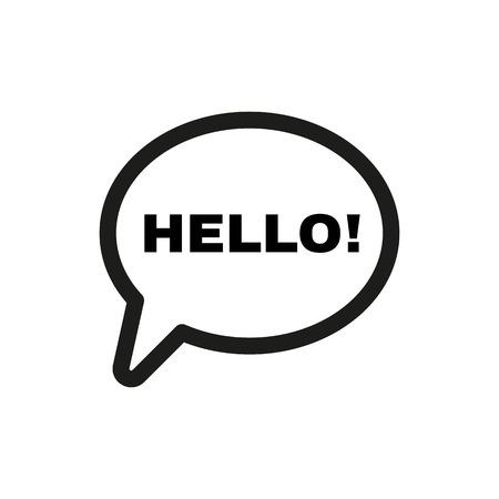 The hello icon. Greet and hi symbol. Flat Vector illustration