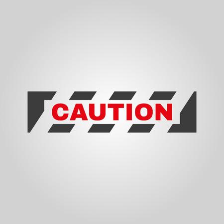 attention symbol: The caution icon. Danger and hazard, attention symbol. Flat Vector illustration Illustration