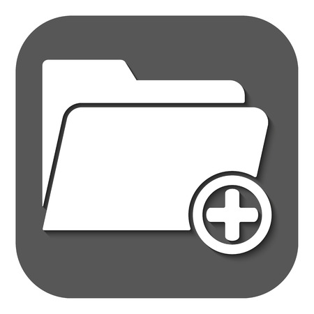 directory: The add to folder icon. Data and directory, archive, storage symbol. Flat Vector illustration. Button Illustration