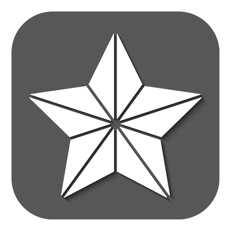 appraisal: The star icon. Best and favorite, quality symbol. Flat Vector illustration. Button