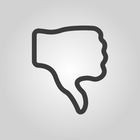 thumb down: The thumb down icon. Rejected and no, negative symbol. Flat Vector illustration Illustration