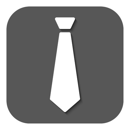 dress code: The tie icon. Necktie and fashion, dress code symbol. Flat Vector illustration. Button