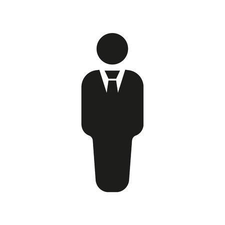 The business man icon. Avatar and user, men, gentleman symbol. Flat Vector illustration