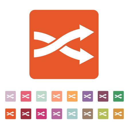 interchange: The intersecting arrows icon. Exchange and turn, cross symbol. Flat Vector illustration. Button Set Illustration