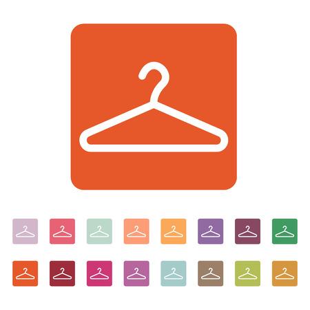 coat rack: The hanger icon. Coat rack symbol. Flat Vector illustration. Button Set