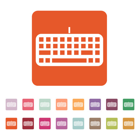 input device: The keyboard icon. Keypad and input, typing, communication symbol. Flat Vector illustration. Button Set Illustration