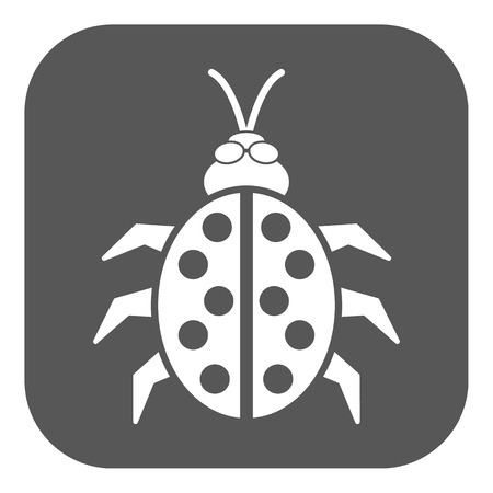 directing: The ladybug icon. Ladybird and bug, beetle symbol. Flat Vector illustration. Button