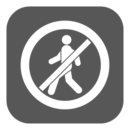 disallowed: The no entry icon. Disallowed and danger, warning symbol. Flat Vector illustration. Button