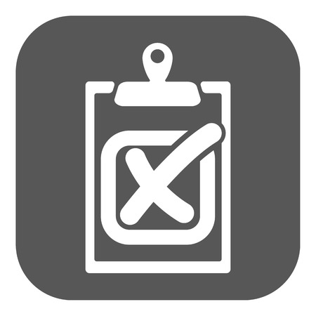 failed: The checklist icon. Clipboard and failed task, wrong answer symbol. Flat Vector illustration. Button