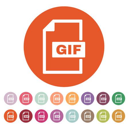 gif: The GIF icon. File format symbol. Flat Vector illustration. Button Set Illustration