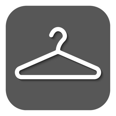coat rack: The hanger icon. Coat rack symbol. Flat Vector illustration. Button