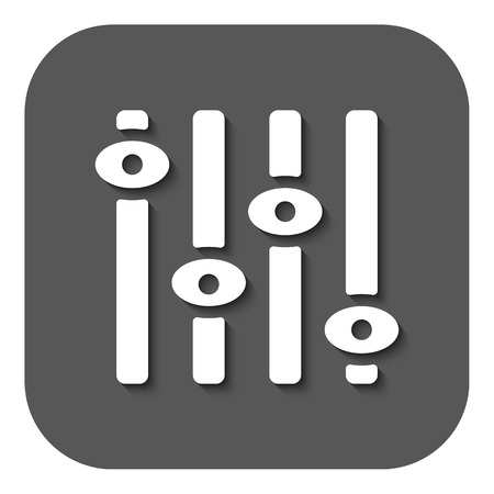 The adjustment icon. Regulator and mixing, volume, settings symbol. Flat Vector illustration. Button
