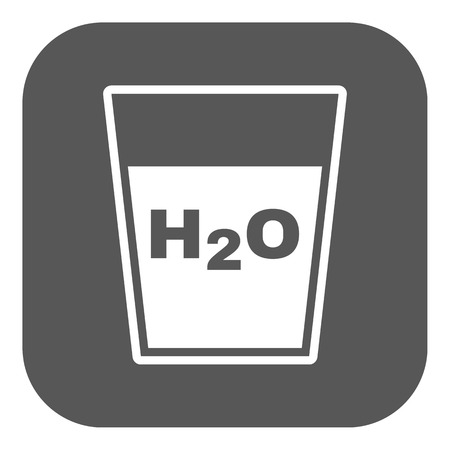 h2o: The H2O icon. Water and drink, aqua symbol. Flat Vector illustration. Button