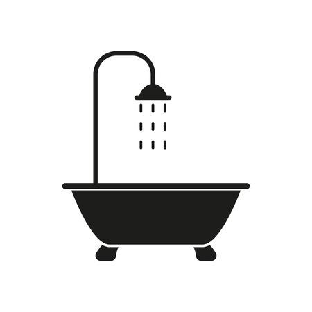 The shower icon. Bathroom symbol. Flat Vector illustration Illustration