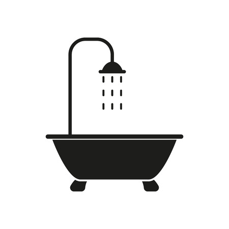 The shower icon. Bathroom symbol. Flat Vector illustration Ilustração