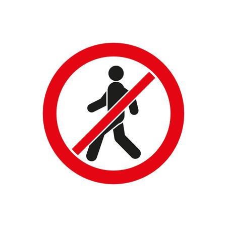 Het pictogram geen vermelding. Afgekeurd en gevaar, waarschuwingssymbool. Platte Vector illustratie