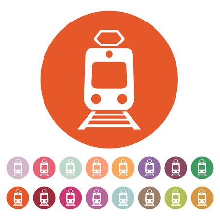 train icone: L'ic�ne de train. M�tro et tram, symbole de chemin de fer.