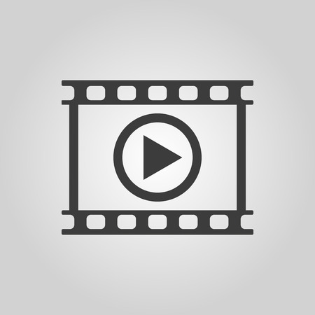 The video icon. Play and player, movie, cinema symbol.