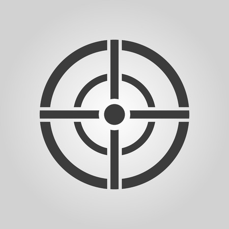 The aim bag icon. Crosshair and target, sight, sniper symbol.