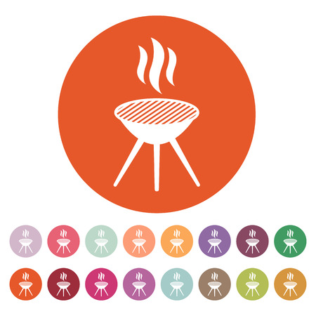 barbecue: The grill icon. Barbecue and picnic, barbeque symbol.  Illustration