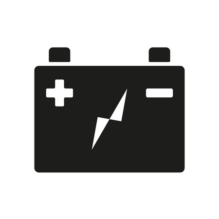 accumulator: The accumulator battery icon. Power and electric, energy, electricity symbol. Flat Vector illustration