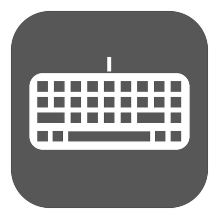 input: The keyboard icon. Keypad and input, typing, communication symbol. Flat Vector illustration. Button Illustration
