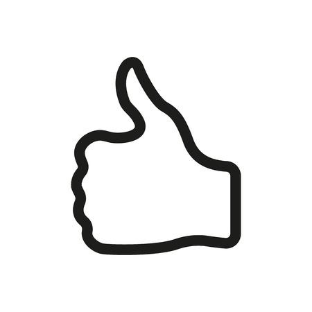엄지 손가락 최대 아이콘입니다. 추천하고 예, 기호를 승인합니다. 평면 벡터 일러스트 레이 션