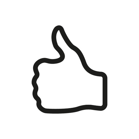 finger up: The thumb up icon. Like and yes, approve symbol. Flat Vector illustration