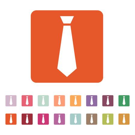 dress code: The tie icon. Necktie and fashion, dress code symbol. Flat Vector illustration. Button Set Illustration