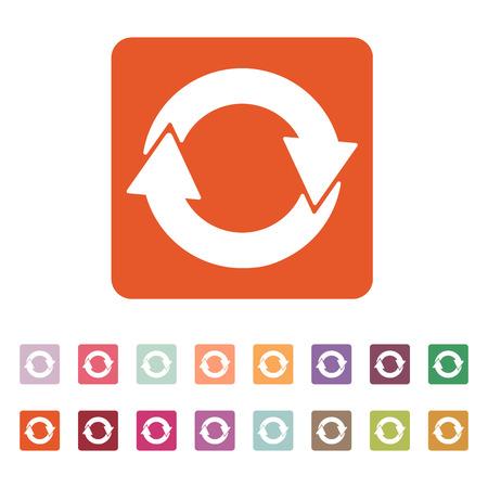 reciclar: El icono de reciclaje. Eco y ecol�gico, s�mbolo ciclo. Ilustraci�n vectorial Flat. Bot�n Set