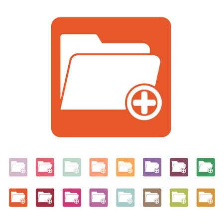 folder: El complemento a la carpeta icono. Los datos y el directorio, archivo, símbolo de almacenamiento.