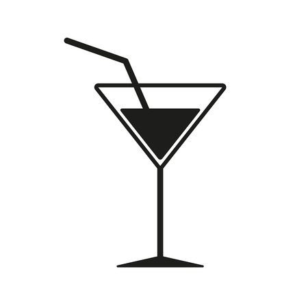 The cocktail icon. Drink and party, alcohol symbol.