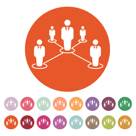 business connection: The teamwork icon. Leadership and connection, business teams symbol.