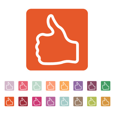thumb up icon: The thumb up icon. Like and yes, approve symbol.