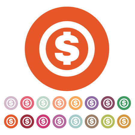 money wealth: The dollar icon. Cash and money, wealth, payment symbol.