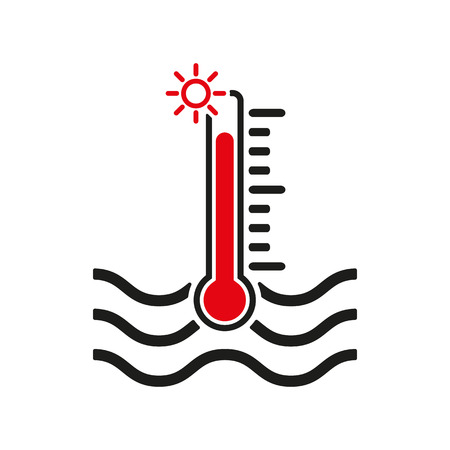 warning indicator: The warm water temperature icon. Hot liquid symbol.